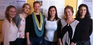 Forskergruppen med adjunkt Line Mathiesen som nr. 3 fra venstre, og professor Lisbeth Knudsen som nr. 2 fra højre.